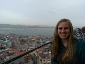 Suzanne at the Galata Tower
